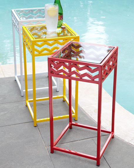 Chevron Outdoor Accent Table