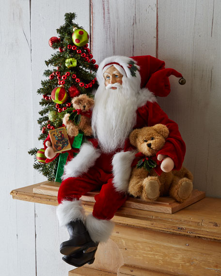 Bear Hugging Santa