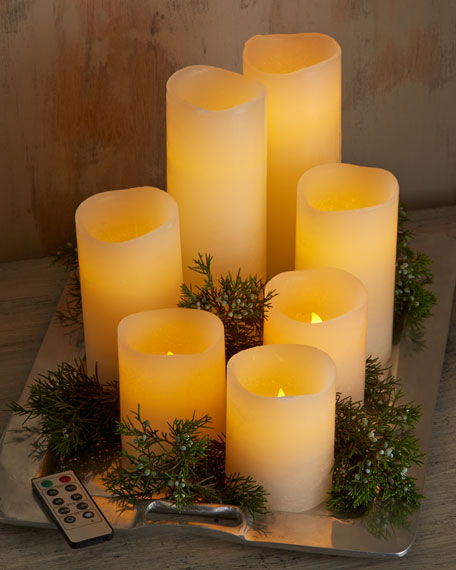 Three LED Candles with Remotes