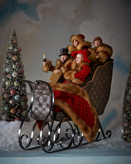 Christmas Carolers Holiday Yard Decorations By Al3001 On: Sleigh With Carolers