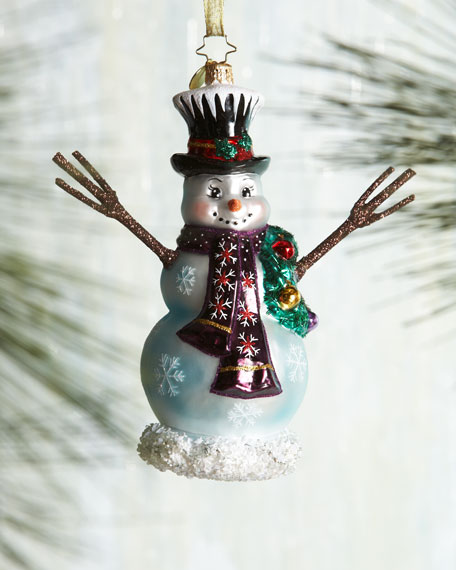 In the Meadow Snowboard Christmas Ornament