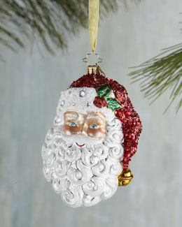 Christopher Radko With a Smile and a Wink Santa Christmas Ornament