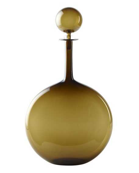 Topaz Round Flask with Ball Stopper