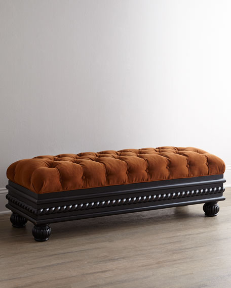 "56""L Tufted Storage Bench"