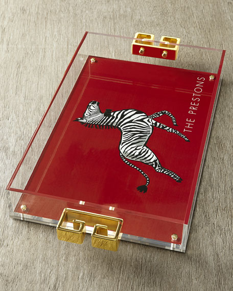 Acrylic Tray with Golden Handles