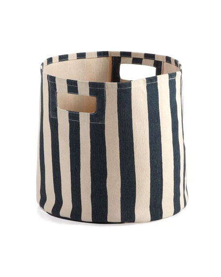 Selby Striped Canvas Bin