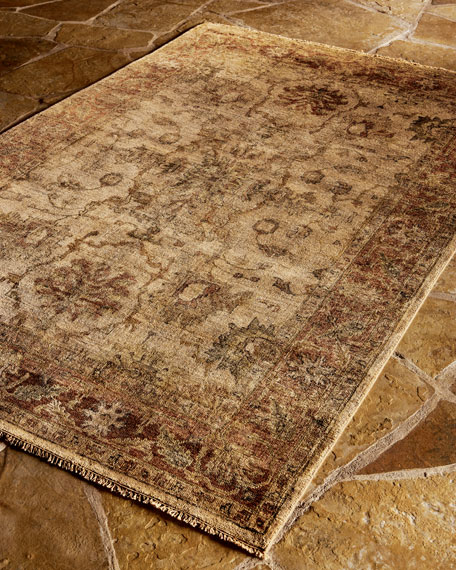 "Latte Rust Oushak Runner, 2'6"" x 12'"