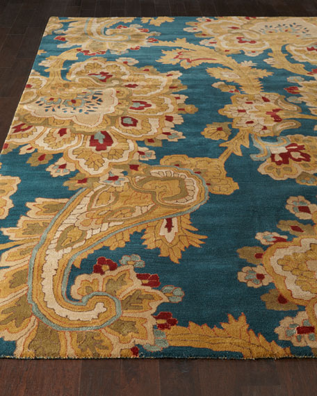 teal living room rug paisley parade rug 12218