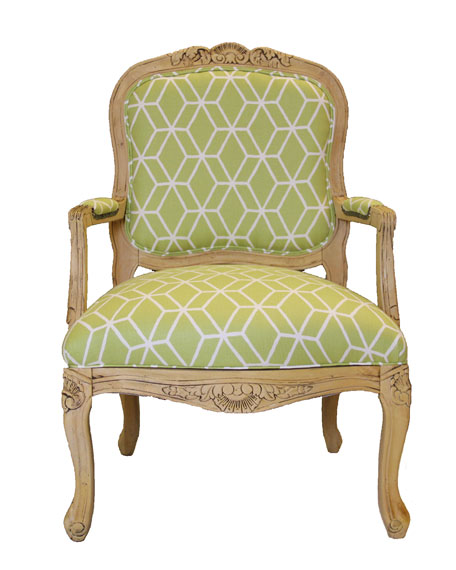 Lime Geometric Chair