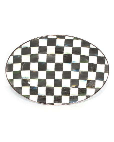 Large Courtly Check Oval Platter