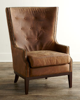 Oak Leather Chair