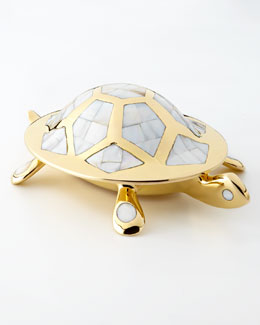 Brass Turtle Box