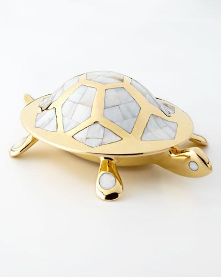 Brass Turtle Box