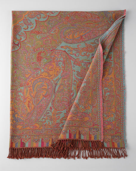 Kannur Paisley Wool Throw