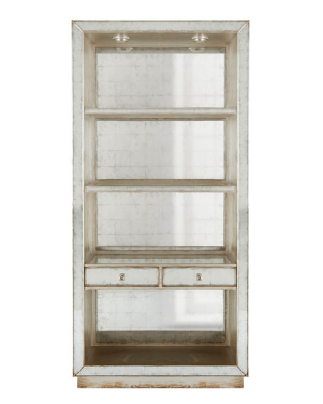 John Richard Collection Regent Mirrored Bookcase