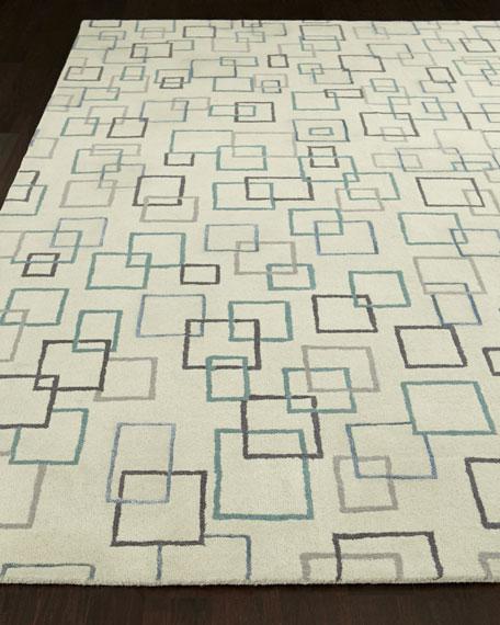 Graphic Squares Rug, 8' x 10'