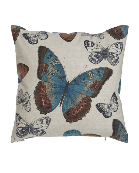 """Avery Butterfly Pillow, 24""""Sq."""