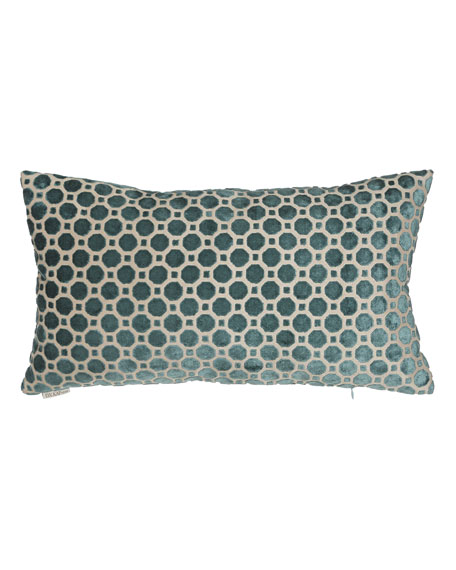 Avery Turquoise Geometric Pillow, 24