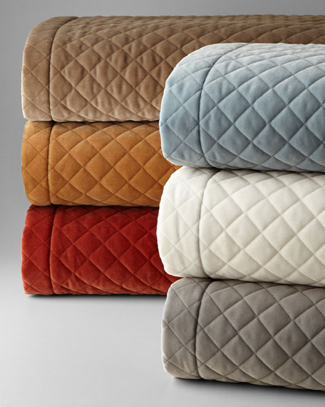 Elite Queen Quilted Velvet Coverlet