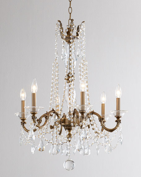 Cast-Brass Chandelier