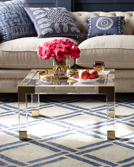 Jacques acrylic & Brass Coffee Table