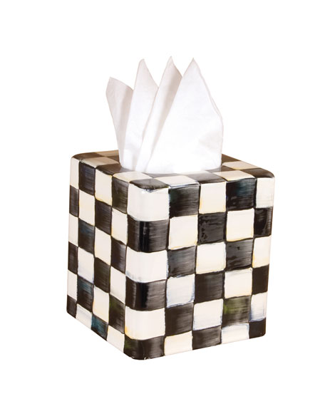 MacKenzie-Childs Courtly Check Tissue Box Cover