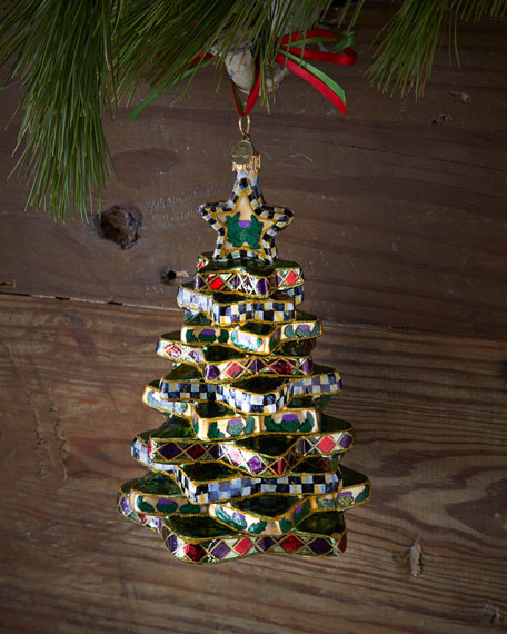 Mackenzie Childs Christmas Ornaments.Stacking Star Tree Christmas Ornament