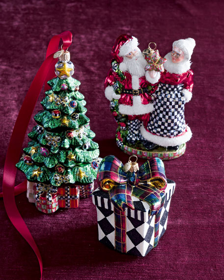 Harlequin Present Christmas Ornament
