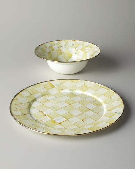 Parchment Check Serving Bowl