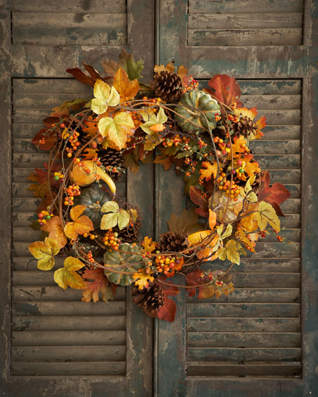 "Bountiful Harvest 34"" Wreath"