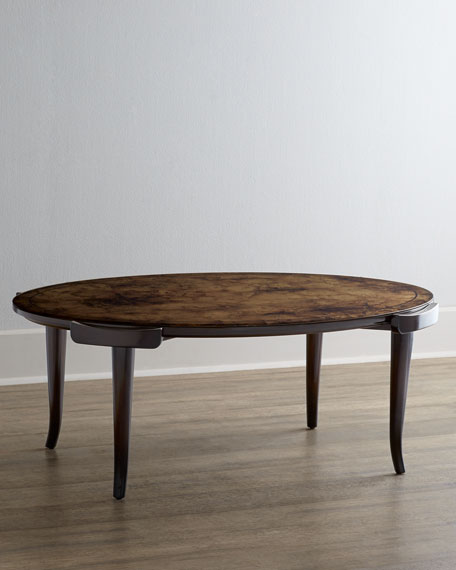Darwin Coffee Table with Reverse-Painted Top