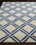 Navy Lattice Rug, 6' x 9'
