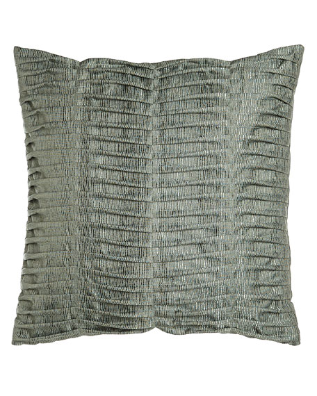 "Glamour Pillow with Pleats, 22""Sq."
