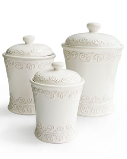 JAY IMPORT CO INC Three Bianca Scroll Canisters