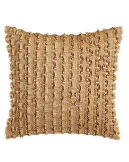 """Isabella Collection by Kathy Fielder Ribbon Pillow, 14""""Sq."""