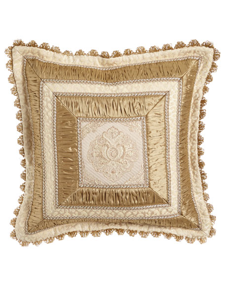 "Kensington Garden Mitered Pillow, 20""Sq."