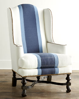 Colorblock Wing Chair