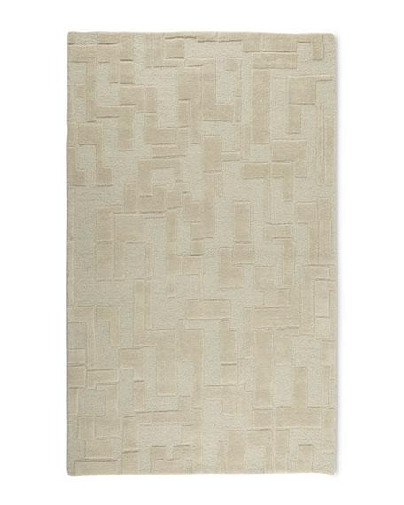 Abstract Maze Rug, 5' x 8'
