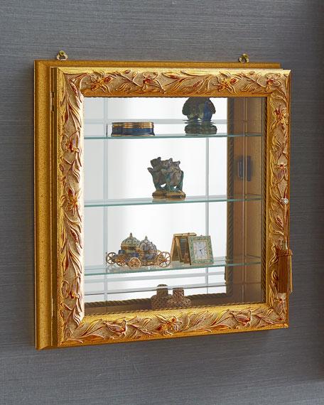 Golden Three-Shelf Vitrine