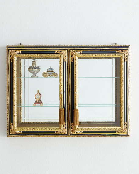 Gold & Black Two-Door Vitrine