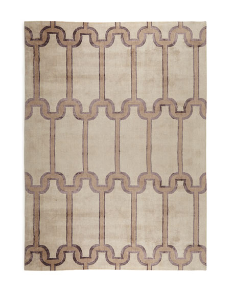 "Travertine Links Runner, 2'6"" x 10'"