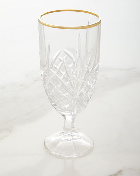Dublin Gold Iced-Beverage Goblets, Set of 4