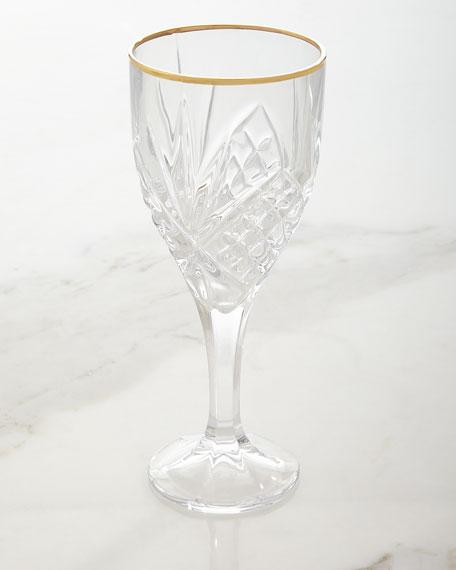 Dublin Gold Wine Goblets, Set of 4