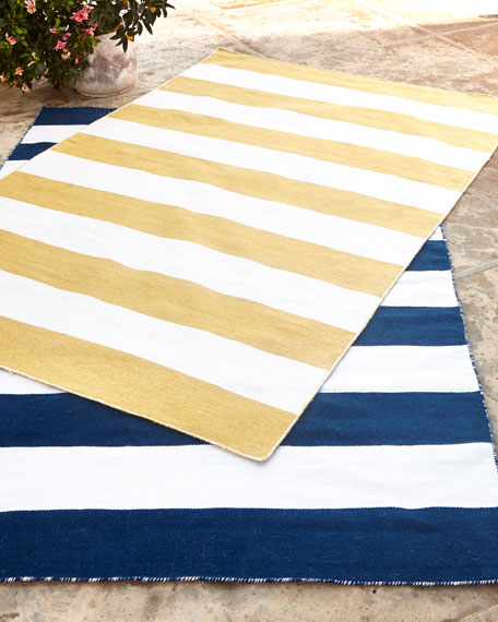 Rugby Stripe Indoor Outdoor Rug 7 6 X 9 6