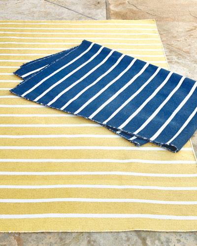 Pinstripe Indoor/Outdoor Rug   3'5 x 5'5