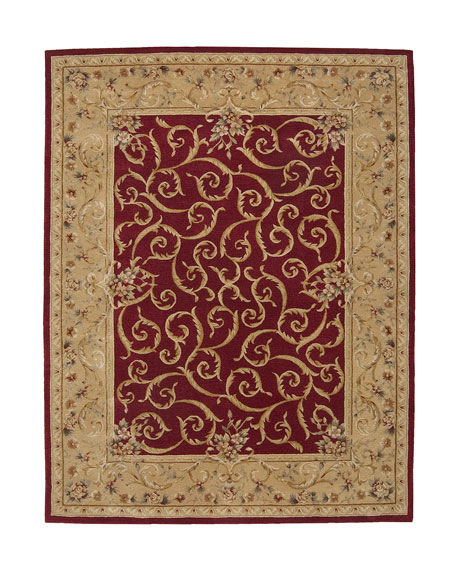 "Savonnerie Scroll Rug, 5'6"" x 8'6"""