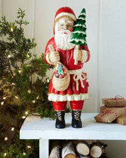 Wood Santa with Tree
