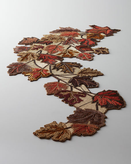 Blowing Leaves Table Runner