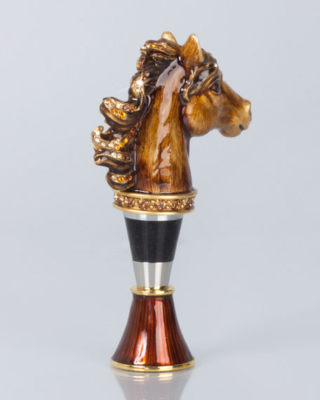 Clarance Horse Wine Stopper with Holder