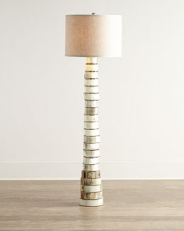 Stacked-Horn Floor Lamp